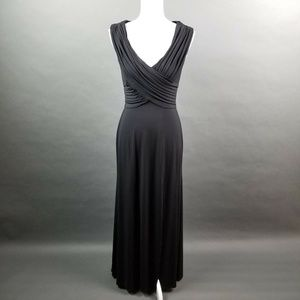Cache Luxe Sleeveless Long Ruched Formal Dress S